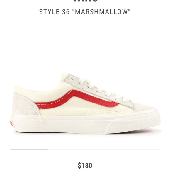 2b3e3a1e4ed9b4 Vans Old Skool Cream Red. M 5b81da3c10fc5475de2b066a